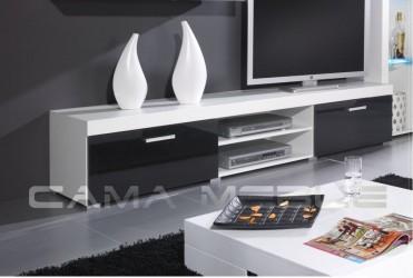 Тумба ТВ SAMBA білий/чорний глянец