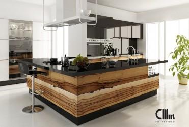 Кухня CMM P0G (шпон)